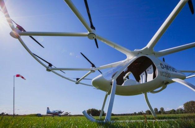 Беспилотный мультикоптер Volovopter в роли скорой помощи