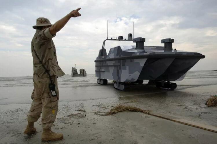 В Китае испытали боевого робота-амфибию — беспилотный десантный катер
